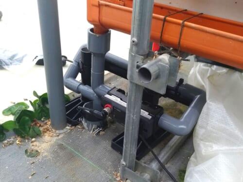 排液改修設備と排液流量計