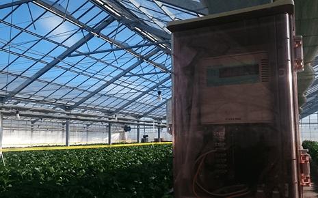 高設栽培で利用されているCO2センサー